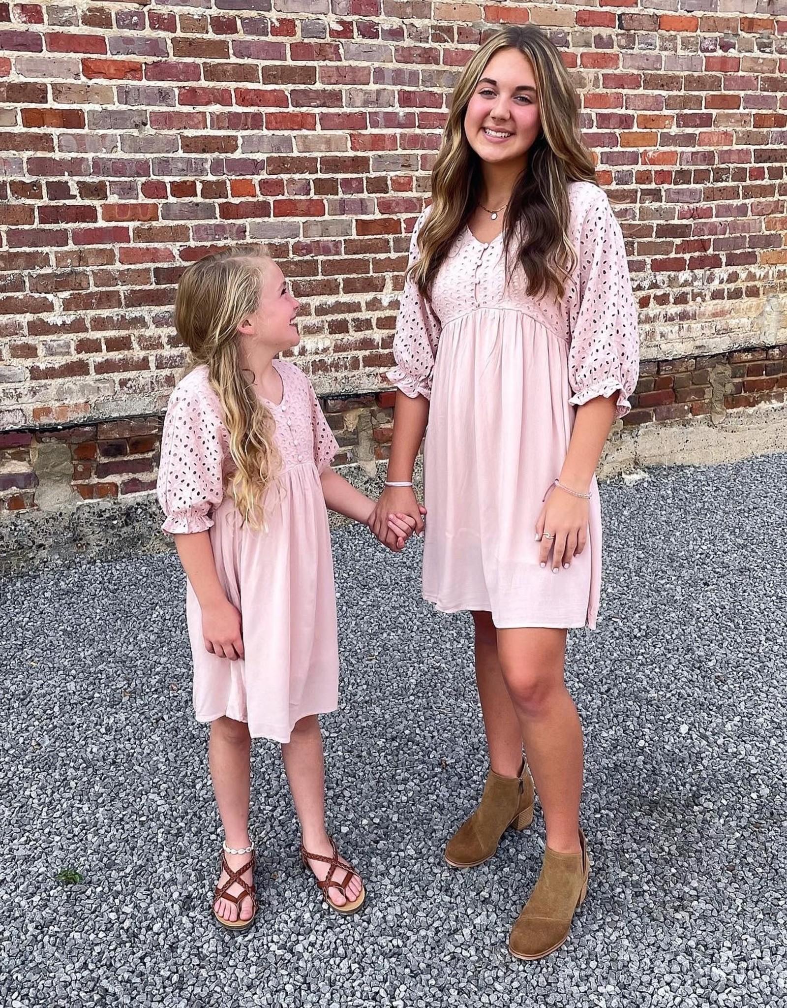 Hayden Polly Dress in Blush