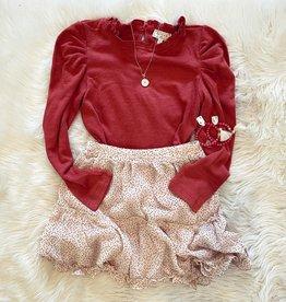 Hayden Avery Heart Skirt in Beige