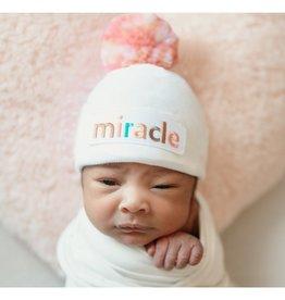 iLYBEAN Miracle Girl Mixed Pinks Pom Pom Beanie