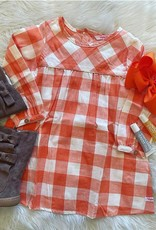 RuffleButts Cider Plaid Button Back Dress