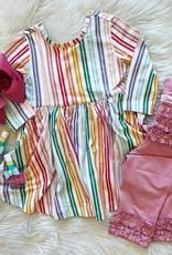 RuffleButts Fairytale Rainbow Twirl Dress Set