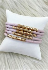 Charlie Bracelet Stack in Pink