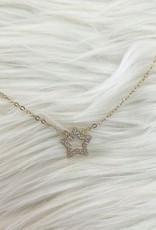 Single Star Rhinestone Necklace