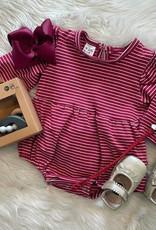 Honeydew Serena Stripe Bubble in Crimson