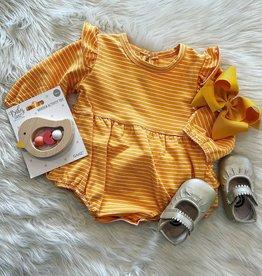 Honeydew Serena Stripe Bubble in Gold
