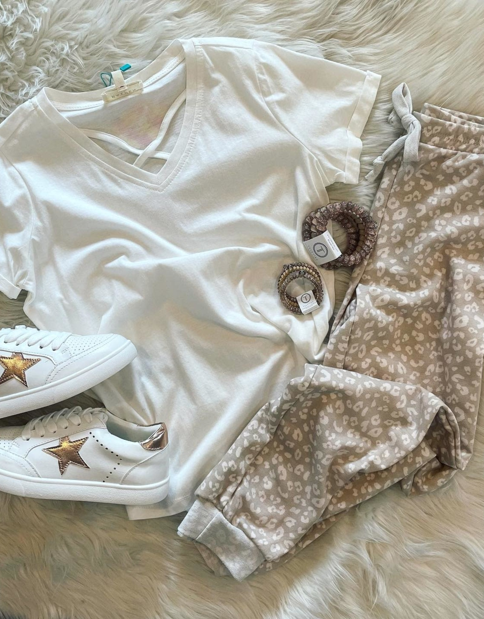 For All Seasons Leopard Joggers in Tan
