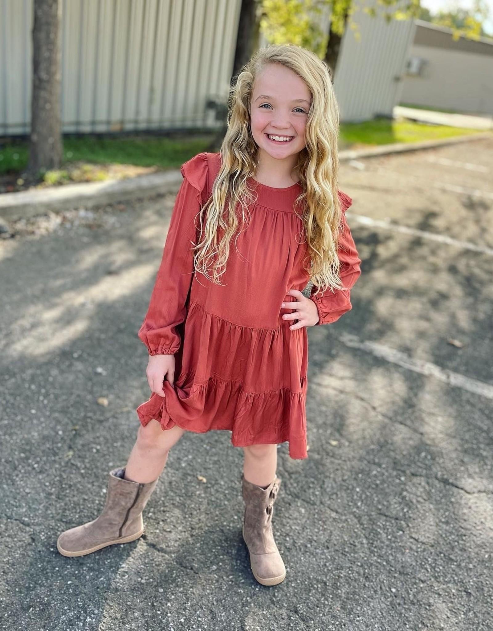 Hayden Natalie Dress in Rust