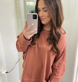 Amanda Oversized Sweater in Rust
