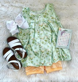 Be Girl Clothing Trapeze Tunic- Mint Buds