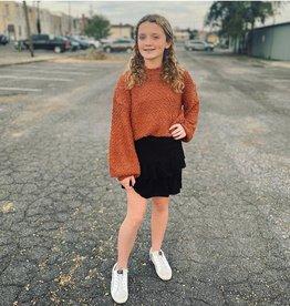 Hayden Mallory Smocked Skirt in Black