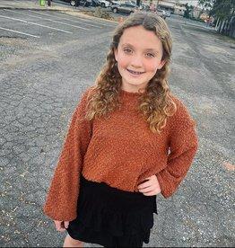 Hayden Mattie Popcorn Sweater in Rust