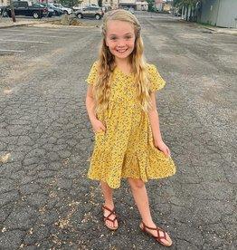 Hayden Lucy Dress in Mustard Floral