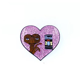 E.T. vs Beer Pin (Pink Glitter)