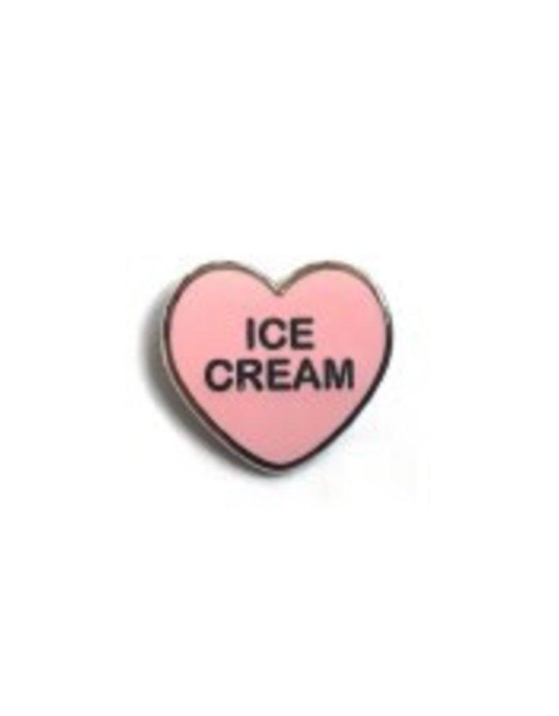 Yesterdays Co Ice Cream Candy Heart Pin