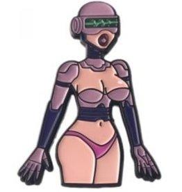 Geeky and Kinky Sex Robot Pin