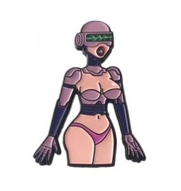 Geeky and Kinky Sex Robot Pin