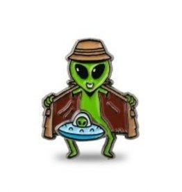 Mean Folk Alien Flasher Pin