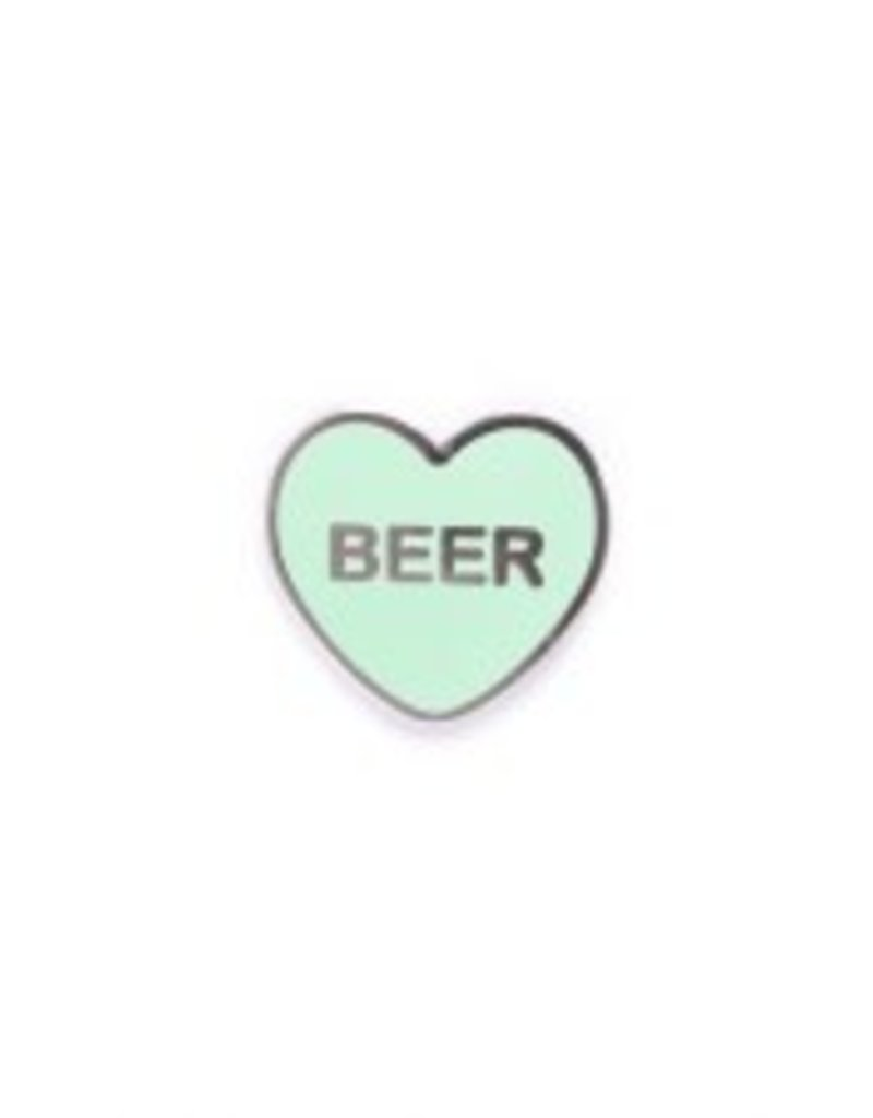 Yesterdays Co Beer Candy Heart Pin
