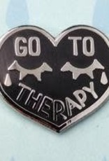 Silver Sprocket Go To Therapy Pin