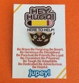 Jupey Krusho Hey Hugo Enamel Pin