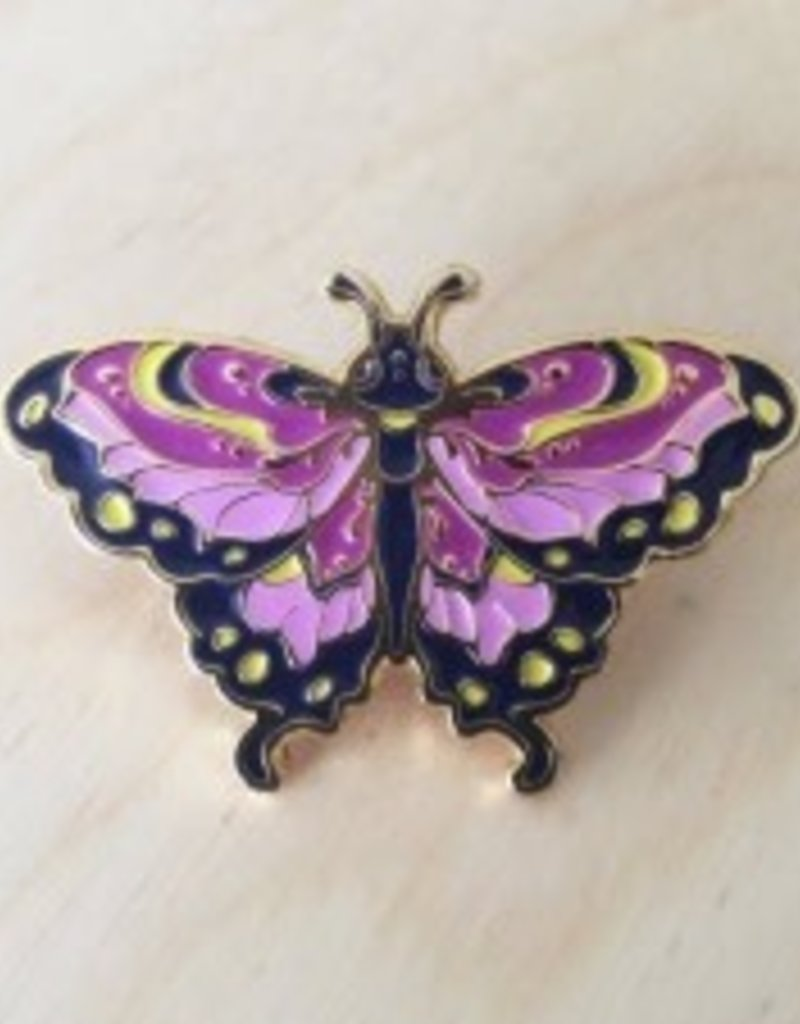 Vuduberi Butterfly (Purple) Pin