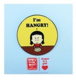 Angry Little Girls I'm HANGRY! Pin