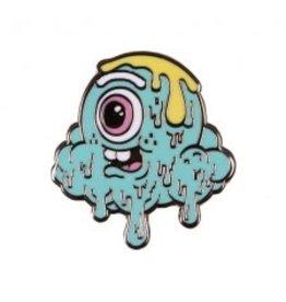 Buff Monster Motley Melty Teal Pin