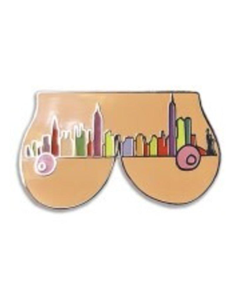 Nerdpins New York Boobs Pin
