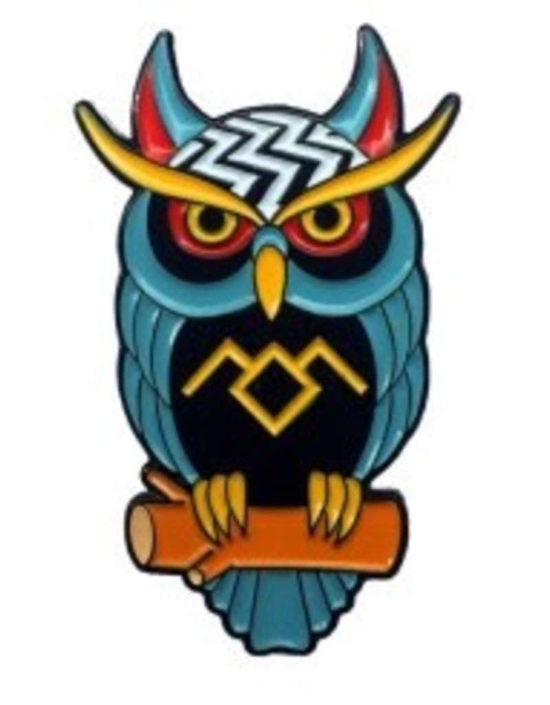 Thrillhaus Twin Peaks Owl Pin