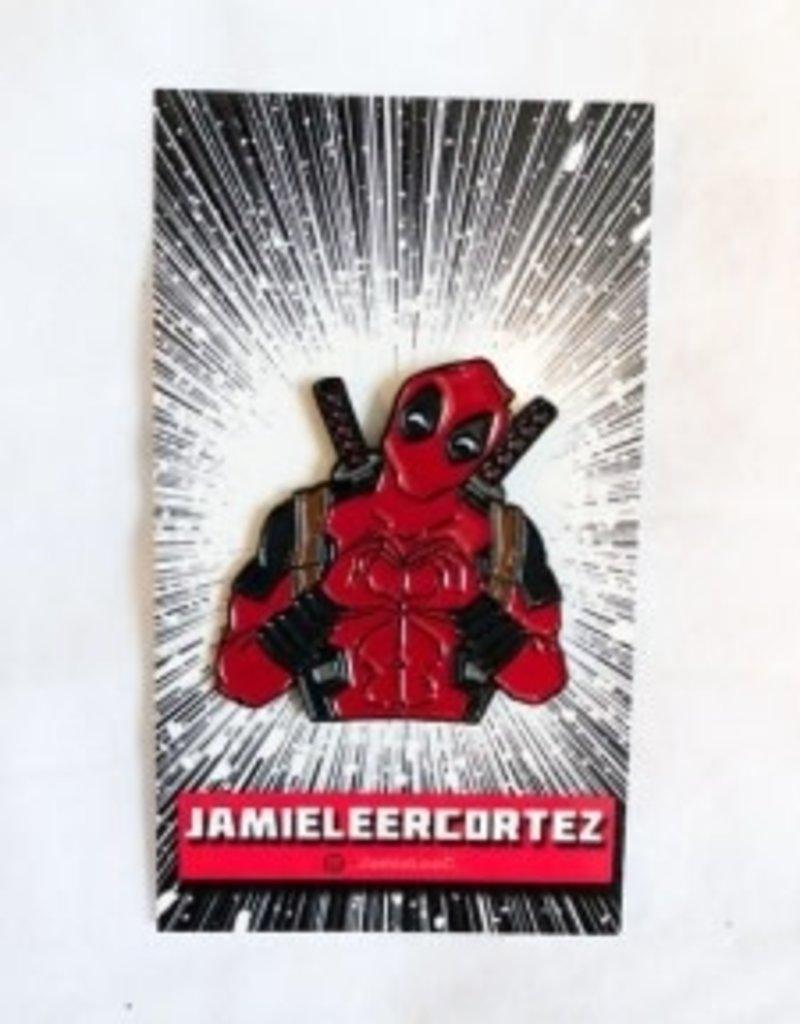 Jamie Lee Cortez I Heart U Deadpool Pin