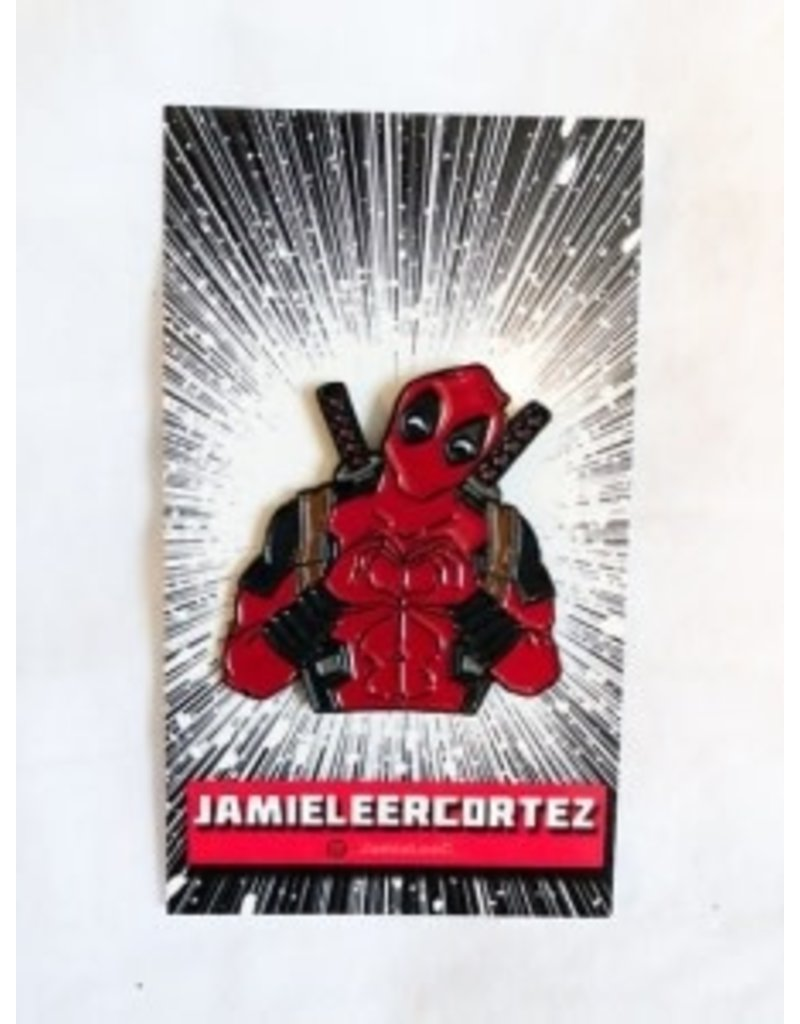 Jamie Lee Cortez I Heart U Deadpool Pin