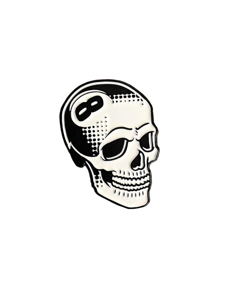 8 Ball Skull Pin