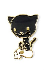 Genuine HaHa Pin: Cat and Skull