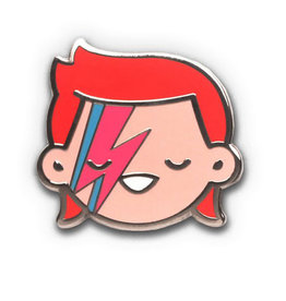 100% Soft Starman Enamel Pin