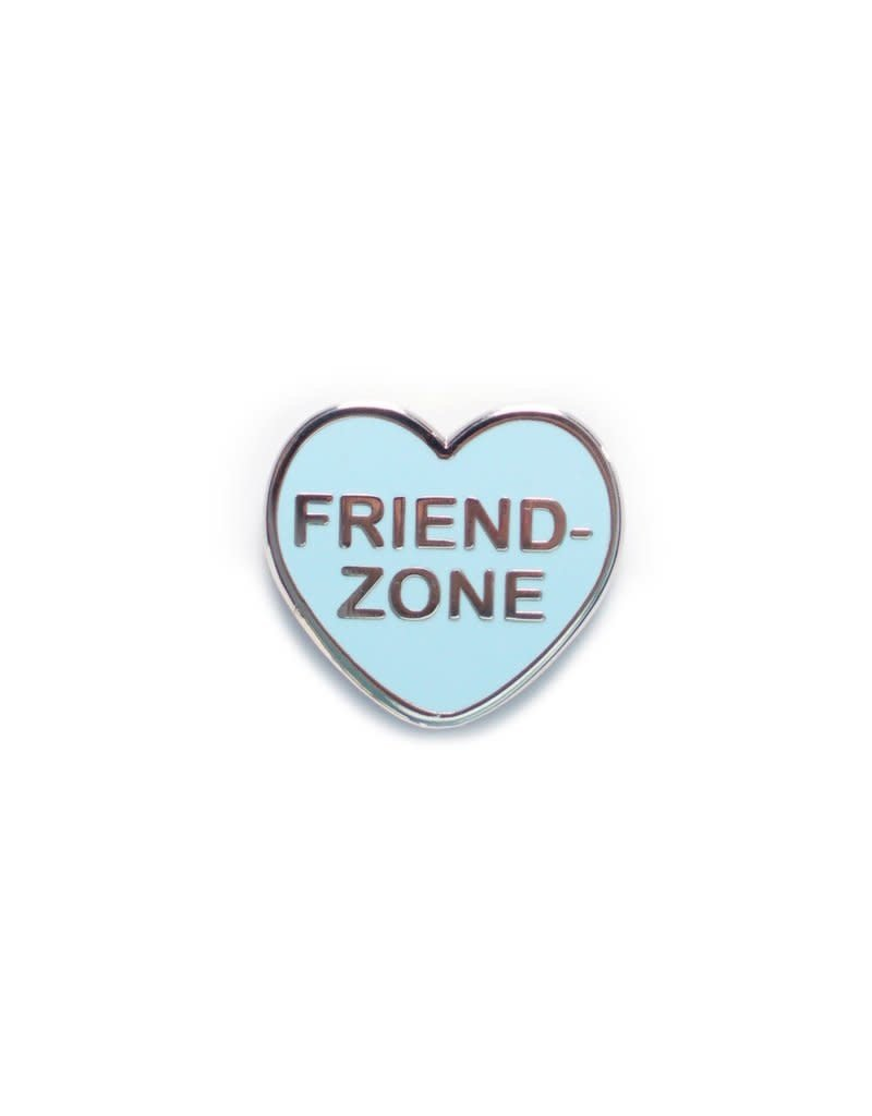 Yesterdays Co Friend Zone Candy Heart Pin