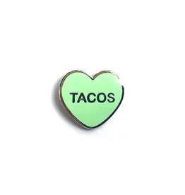 Yesterdays Co Tacos Candy Heart Pin