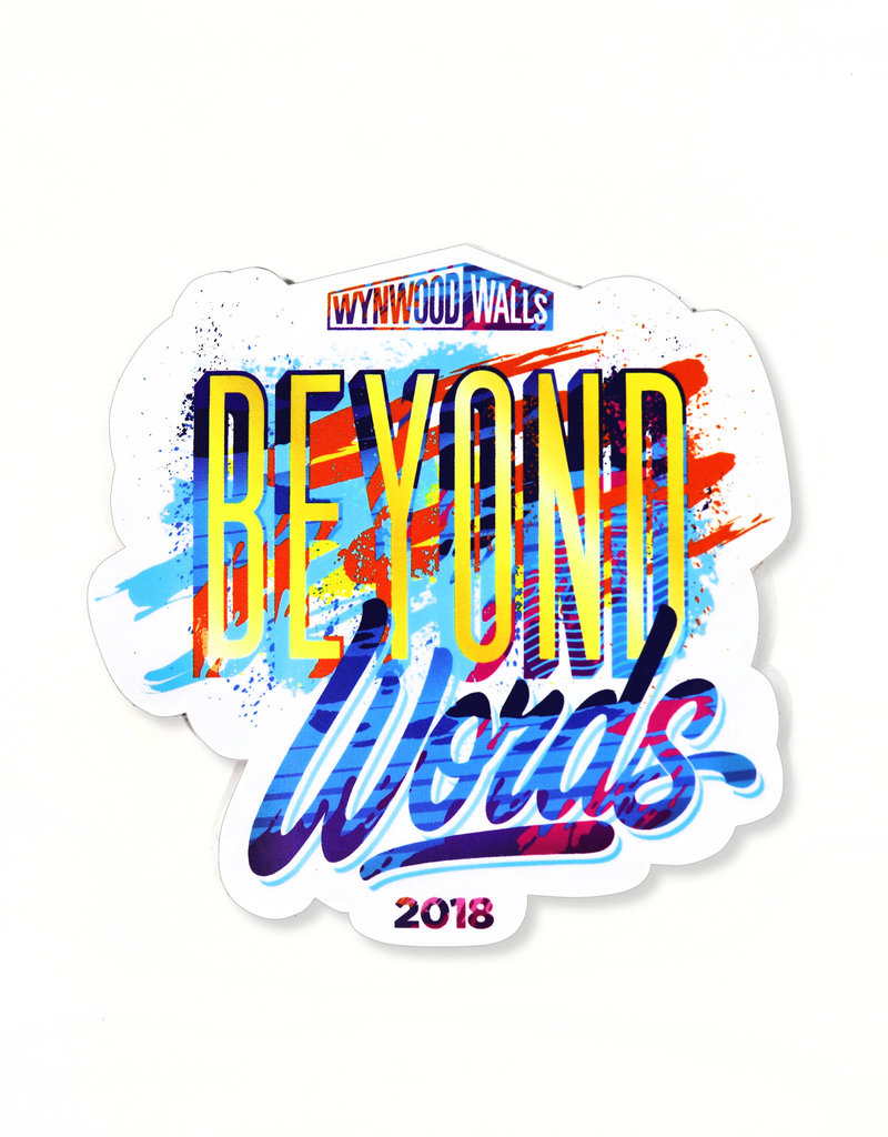 Wynwood Walls Beyond Words Sticker