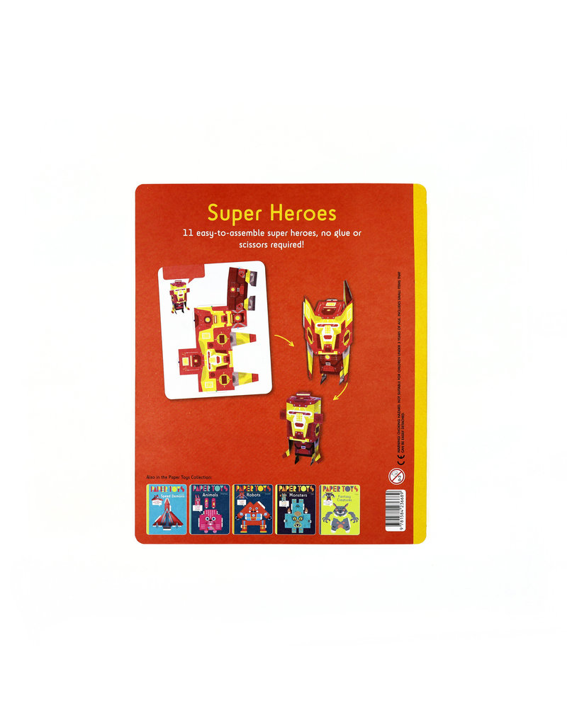 Super Heroes: 11 Super Heroes to Build (Paper Toys)