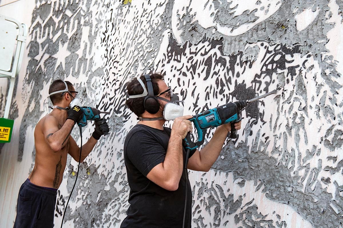 VHILS AT THE WYNWOOD WALLS BY MARTHA COOPER