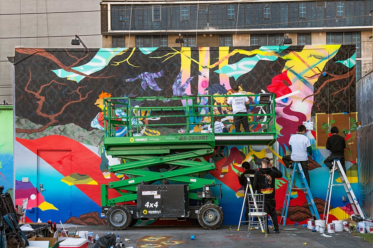 TOMOKAZU MATSUYAMA AT THE WYNWOOD WALLS BY MARTHA COOPER