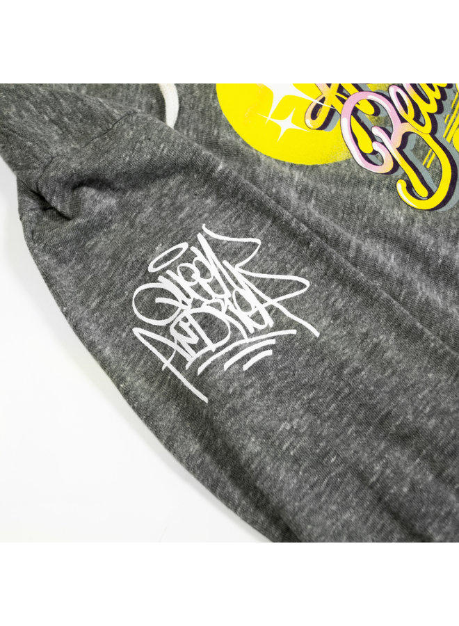 Queen Andrea x Wynwood Walls Ladies Tri-blend jersey pullover hoodie