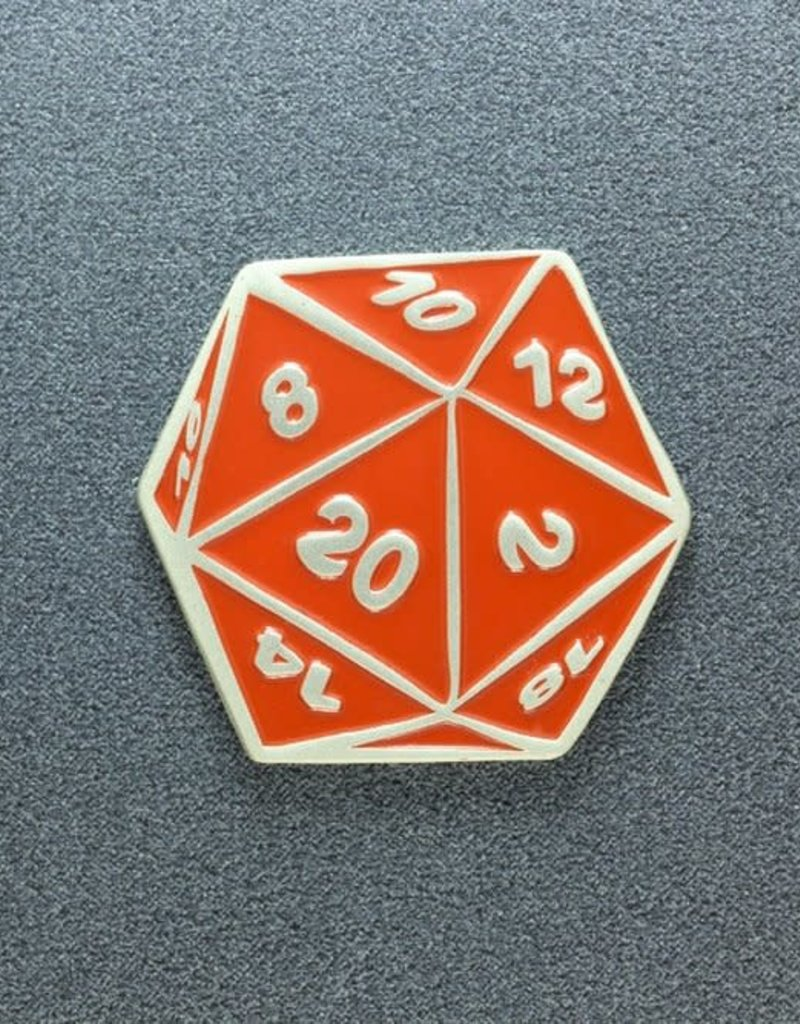 Ethan Marak D20 Dice Raging Red Limited Edition Pin