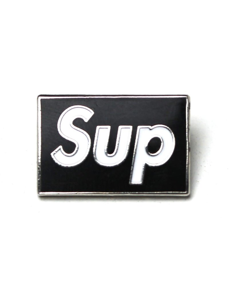 Pin Sup - White on Black