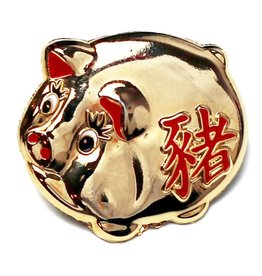 Pintrill Lucky Golden Pig Pin