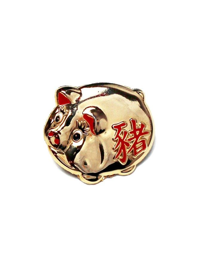 Lucky Golden Pig Pin