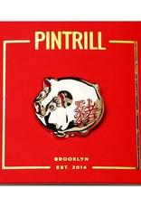 Pintrill Lucky Golden Pig Pin