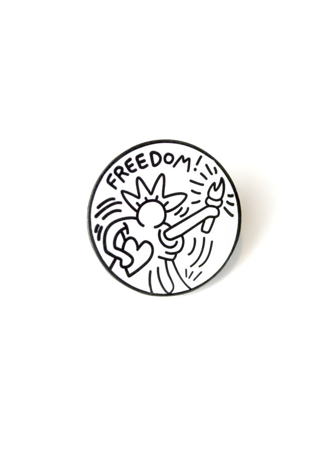 Keith Haring - Freedom Pin