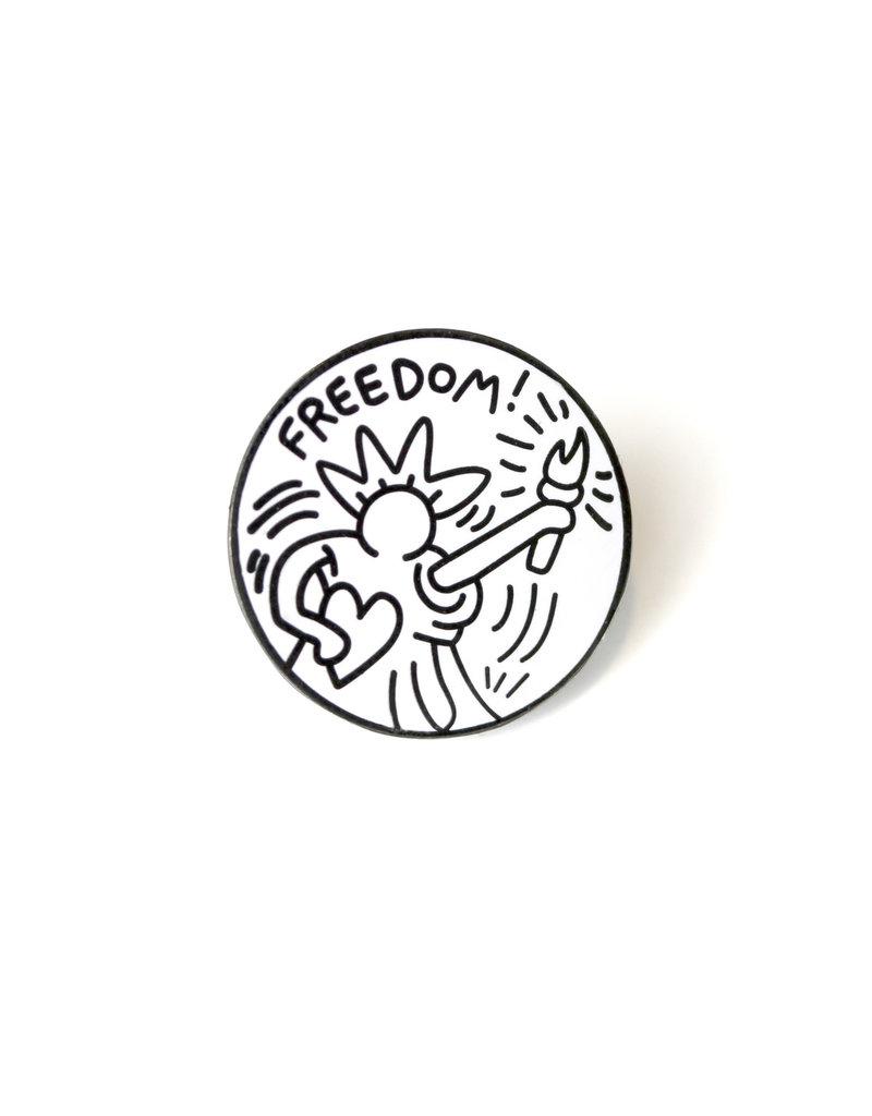 Keith Haring - Freedom Pin