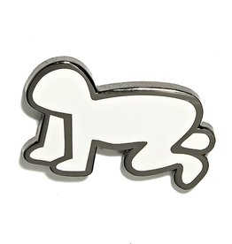 Keith Haring Keith Haring - Radiant Baby Pin - White and Silver