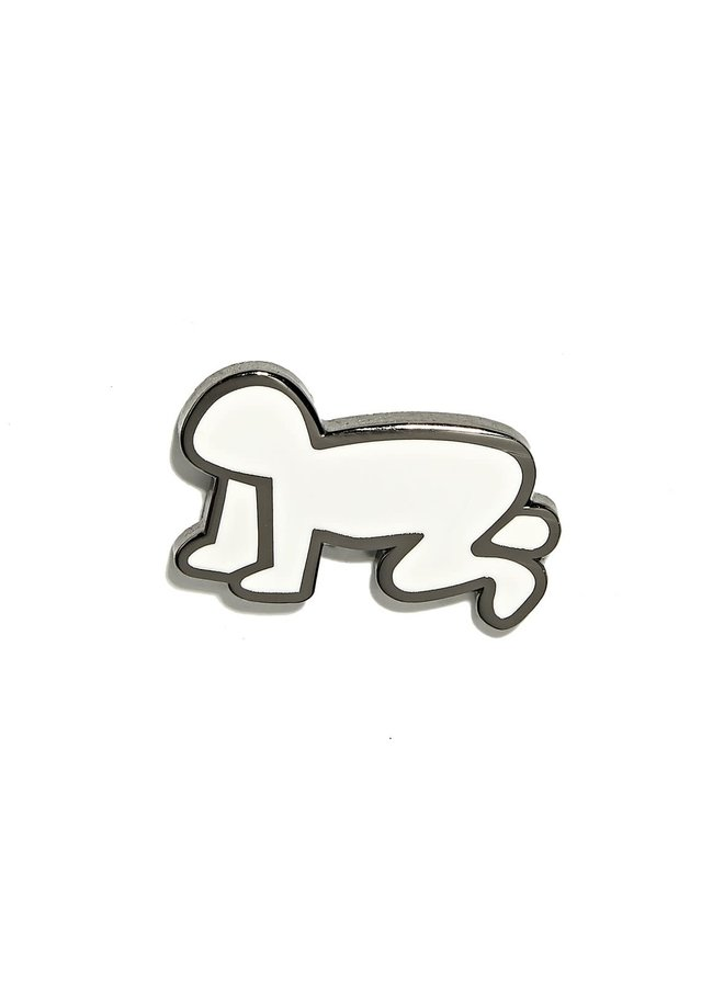 Keith Haring - Radiant Baby Pin - White and Silver